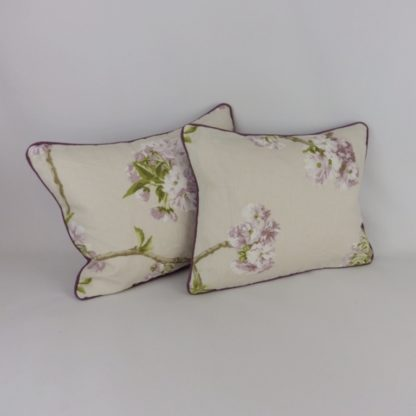 Orchard Blossom Nina Campbell Purple Floral Lumbar Cushions