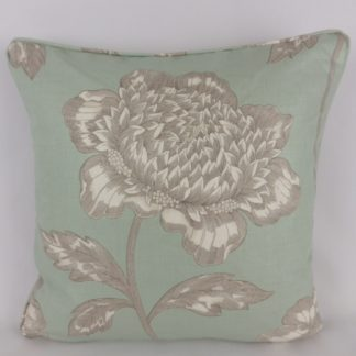Anemone Sanderson Fabric Duck Egg Blue Cushions