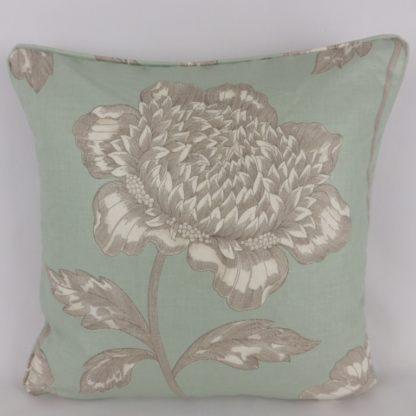 Anemone Sanderson Fabric Duck Egg Blue Cushions