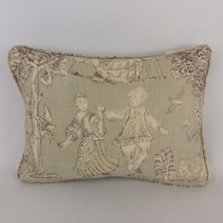 Grey Dancers Toile Hodsoll McKenzie Designer Cushions