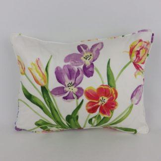 Bright Floral Spring Tulip Lumbar Cushions