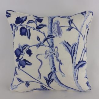Blue White Floral Cushion