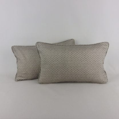 Grey Spotted Bolster Cushion