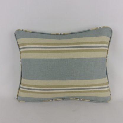 Blue Green Natural Stripe Lumbar Cushion