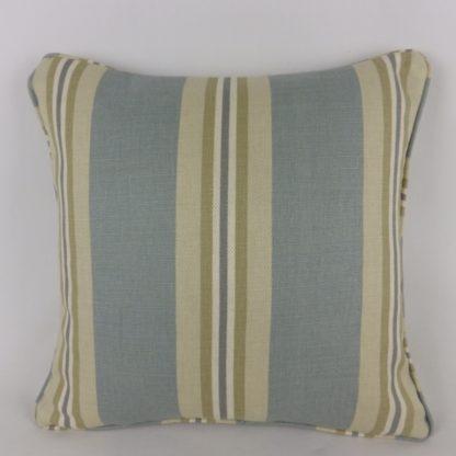 Blue Green Natural Stripe Cushions