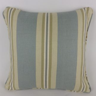 Blue Green Natural Stripe Cushions