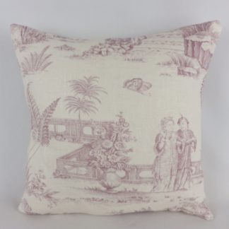 Orchid Purple Toile Cushions