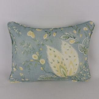 Blue Yellow Vintage Floral Lumbar Cushions