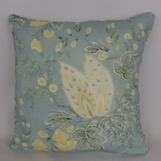 Blue Yellow Vintage Floral Cushions