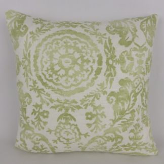 Sansome Fabric Thibaut Green Linen Cushions