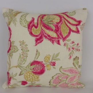 Pink Green Indienne Floral Cushions