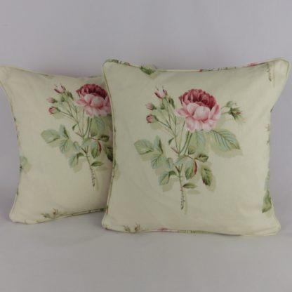 Sanderson English Rose Fabric Cushion