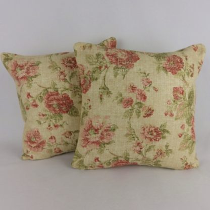 Red Country Floral Sanderson Reminiscence Cushion