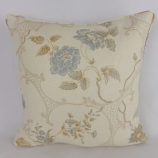 Blue Grey Taupe Indian Cartouche Hodsoll McKenzie Cushion