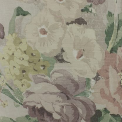 Large Cottage Garden Faded Floral Linen Cushion