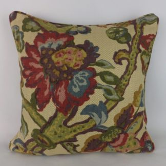 Jacobean Floral Lee Jofa La Cinta Fabric Cushions