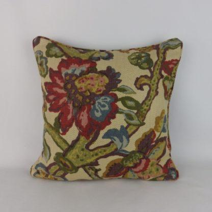 Jacobean Floral Lee Jofa La Cinta Fabric Cushions