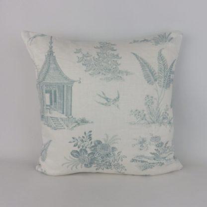 Aqua Toile Chivasso Whisperers Garden Cushions