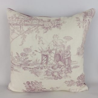 Chivasso Whisperers Garden Purple Toile Cushions