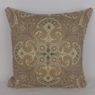 Paisley Floral Natural Brown Linen Cushions