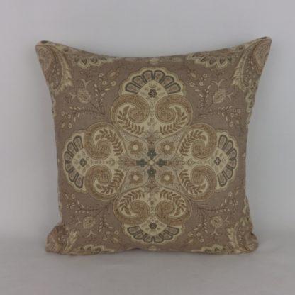 Paisley Floral Natural Brown Linen Cushions