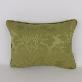 Olive Green Damask Cushion