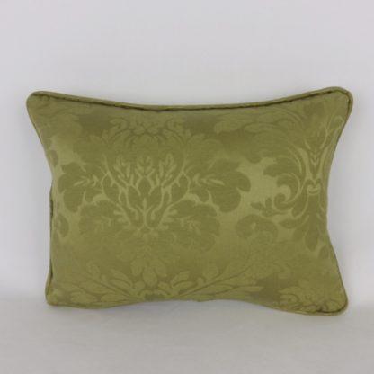Olive Green Damask Cushion