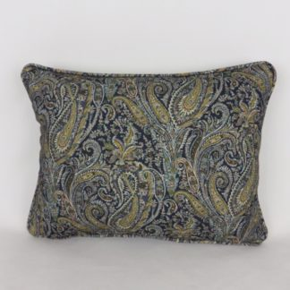 Blue Paisley Cushion