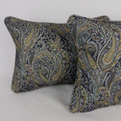 Blue Paisley Cushion