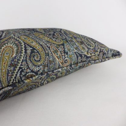 Blue Paisley Lumbar Cushion