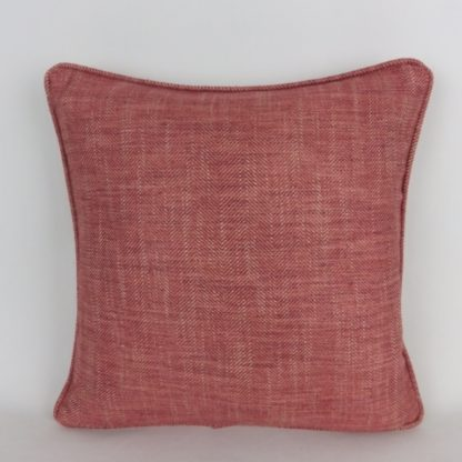 Red Herringbone Cushions