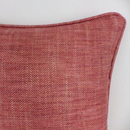 Red Herringbone Cushions