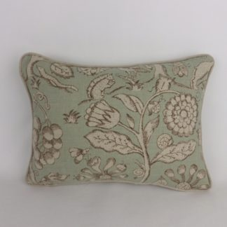 Sanderson Beaufort Duck Egg Camel Cushions