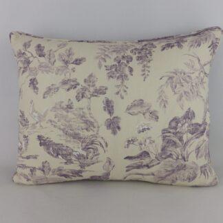 Aesops Fables Sanderson Fig Purple Cushion
