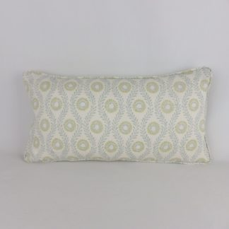 Colefax and Fowler Swift Leaf Aqua Fabric Cushion