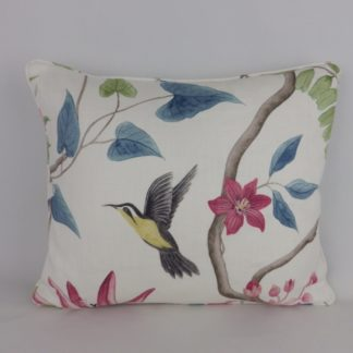 Sanderson Clementine Bird Floral Cushion