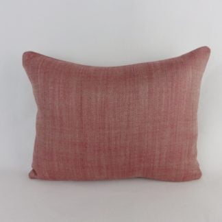 Red Natural Herringbone Weave Cushions