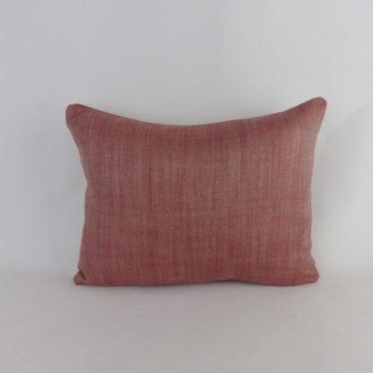 Red Natural Herringbone Weave Cushions