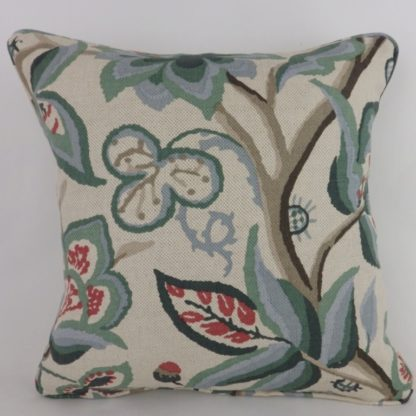 Schumacher Fabric Alexandra Vine Cushions