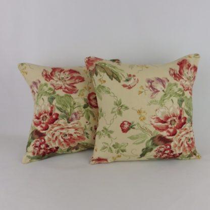Red Vintage Sanderson Floral Cushion