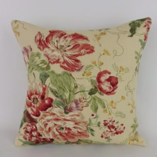 Red Vintage Sanderson Floral Cushion
