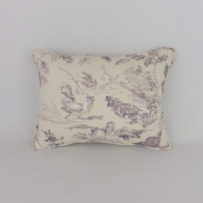 Aesops Fables Sanderson Fig Purple Cushion