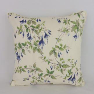 Vintage Blue Fuchsia Floral Cushions