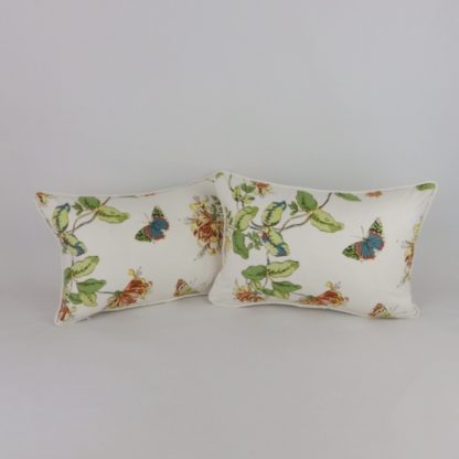 Honeysuckle Butterfly Floral Cushions