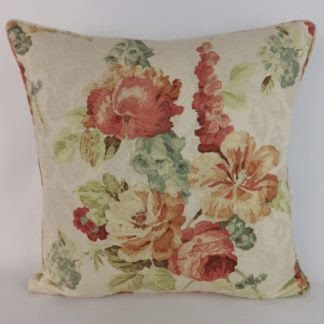 Cottage Garden Floral Large Cushion