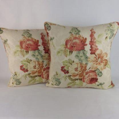 Cottage Garden Floral Large Cushion