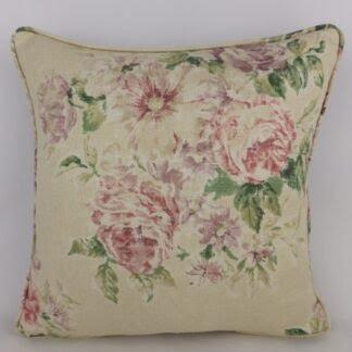 Vintage Floral Sanderson Weybridge Linen Cushion