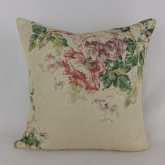 Vintage Floral Sanderson Weybridge Linen Cushion
