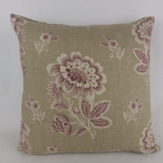 Plum Purple Natural Floral Toile Cushions