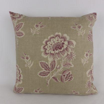 Plum Purple Natural Floral Toile Cushions